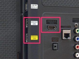 Các kết nối trên tivi Sony