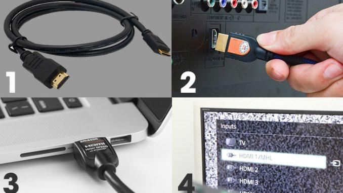 Cách kết nối MacBook với tivi qua cổng HDMI