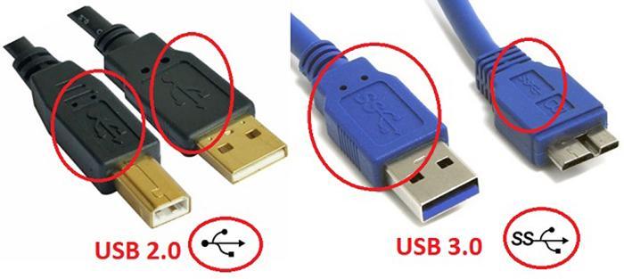Phân biệt USB 3.0 và 2.0